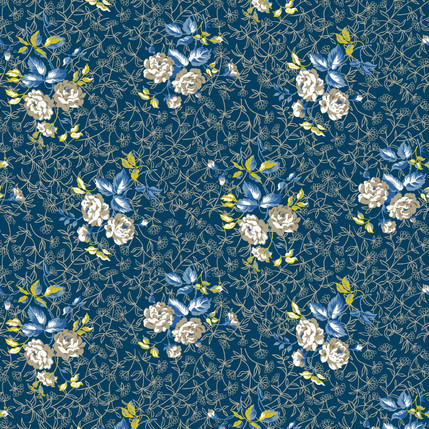 Sonnet Fabric Design (Deep Lagoon)