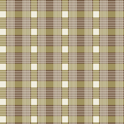 Windsor Plaid Fabric Design (Khaki)