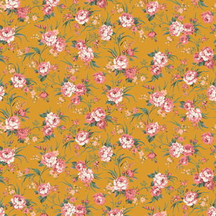 Hannah Mini Floral Fabric Design (Butterscotch Color)
