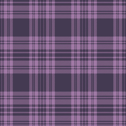 Kilt - Plaid Fabric Collection in Grape