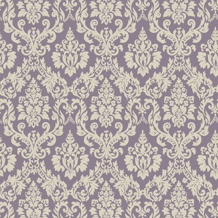 Classico Damask Fabric Design (Grape)
