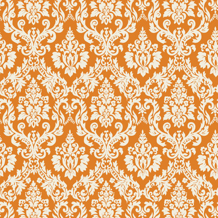 Classico Damask Fabric Design (Pumpkin)