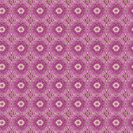 Tiles Fabric Design (Raspberry)