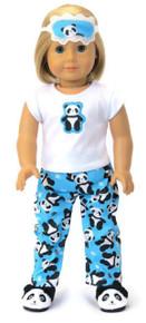 Panda Bear Pajamas & Eye Mask