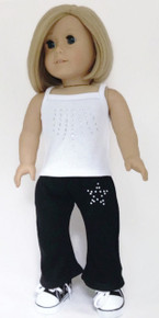 White Tank Top & Black Yoga Pants