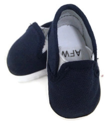 Canvas Slip On Shoes-Navy