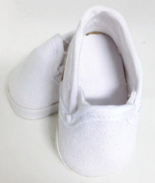 Canvas Slip On Shoes-White