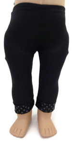 Leggings with Sequined Hem by Sophia's-Black