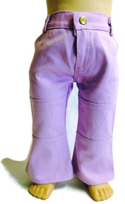 Denim Pants with Pockets-Lavender