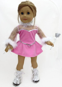 4 pc Pink Velour Skating Outfit by Sophia's®