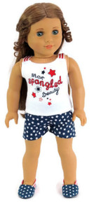 Red, White, & Blue Patriotic Star Short Set