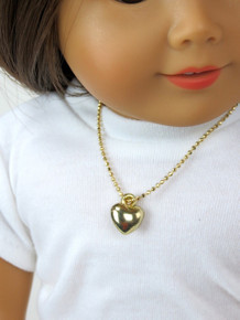 Heart Necklace-Gold