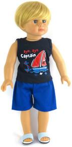 Navy Sailing Shirt & Blue Shorts