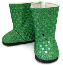 Sequined Boots-Green