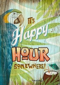 It's 5 o'clock Somewhere garden Flag