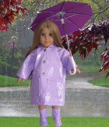 Raincoat, Umbrella, & Boots-Purple