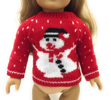Red Snowman Sweater