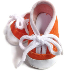 Canvas Tennis Shoes-Orange