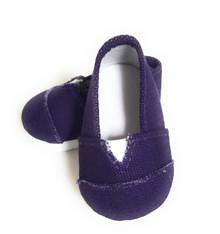 Canvas Slip Shoes-Purple