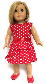 Polka Dot Dress-Red & White