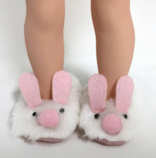 Bunny Slippers for Wellie Wishers Dolls