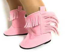 Copy of Suede Cowboy Boots-Pink