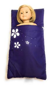 Sleeping Bag with Flowers-Purple