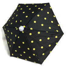 Umbrella-Black with Yellow Polka Dots