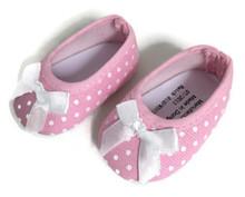 Polka Dot Ballet Flats-Pink & White