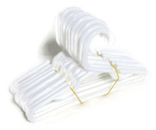 12 Plastic Hangers-White for Wellie Wishers Dolls