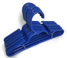 Hangers-Royal Blue Plastic 1 Dozen