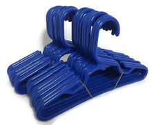 Hangers-Royal Blue Plastic 2 Dozen