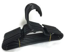 Hangers-Black Plastic 1 Dozen