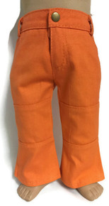 Denim Pants with Pockets-Orange