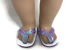 Sequined Flip Flop Sandals-Lavender
