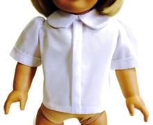 Short Sleeved Blouse-White