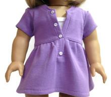 Short Sleeved Trendy Top-Purple