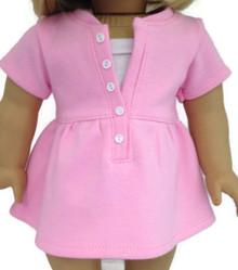 Short Sleeved Trendy Top-Pink