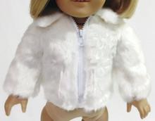 Faux Fur Jacket-White