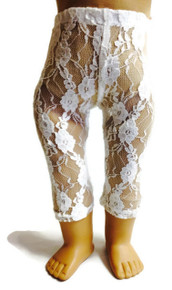 Lace Leggings-White