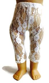 Lace Leggings-White