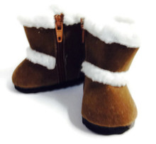 Shearling Boots-Brown