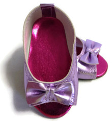 Peep Hole Sandals-Metallic Lavender