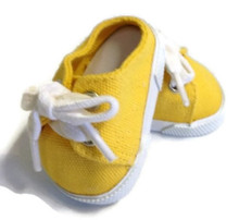Backless Canvas Slip On Shoes-Yellow