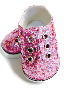 Sequin Slip On Sneakers-Pink