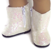 Sparkle Boots-Ivory