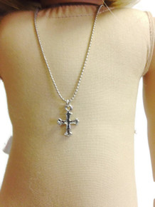 Cross Necklace-Silver