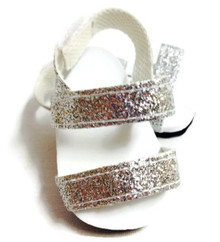 Glitter Sandals-Silver