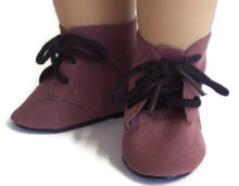 Tie Boots-Brown Suede
