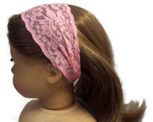 Stretchy Lace Headband-Pink